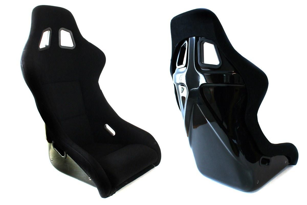 Fotel sportowy EVO Welur Black typ2 - GRUBYGARAGE - Sklep Tuningowy